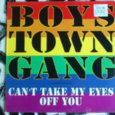 Discos de vinilo: BOYS TOWN GANG - CAN´T TAKE MY EYES OFF YOU - MAXI - VINILO - BLANCO Y NEGRO - 1996. Lote 52505746