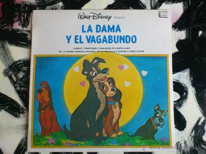 WALT DISNEY - LA DAMA Y EL VAGABUNDO - LP - VINILO - BSO - SIN POSTER - HISPAVOX - 1975 (Música - Discos - LP Vinilo - Bandas Sonoras y Música de Actores )