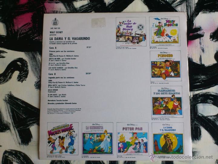 Discos de vinilo: WALT DISNEY - LA DAMA Y EL VAGABUNDO - LP - VINILO - BSO - SIN POSTER - HISPAVOX - 1975 - Foto 2 - 52506767