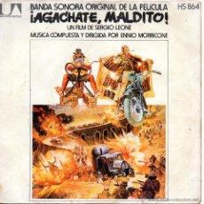 Discos de vinilo: B. S. O. FILM - AGACHATE MALDITO -ENNIO MORRICONE, SG, AGACHATE MALDITO+ 1, AÑO 1972. Lote 52518636