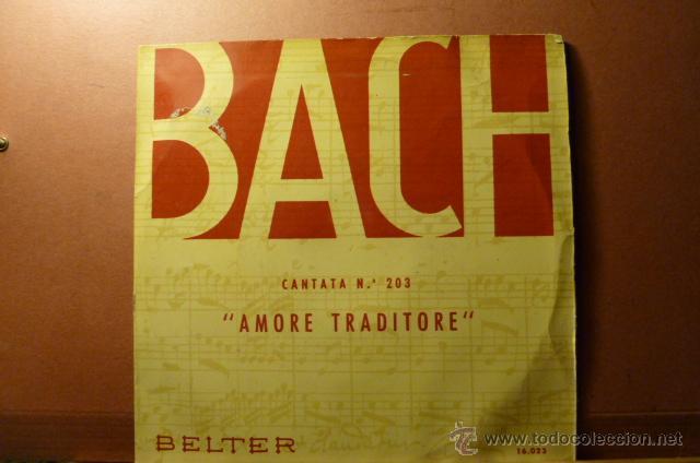 BACH CANTATA N.203 ,AMORE TRADITORE, (Música - Discos - Singles Vinilo - Clásica, Ópera, Zarzuela y Marchas)