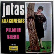 Discos de vinilo: PILARIN BUENO - JOTAS ARAGONESAS - EL DIA QUE OTO MURIÓ + 6 - EP MARFER 1968 BPY. Lote 52527767
