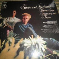 Discos de vinilo: SIMON AND GARFUNKEL - PARSLEY SAGE LP - ORIGINAL HOLANDES - CBS RECORDS 1969 - STEREO -. Lote 52531061