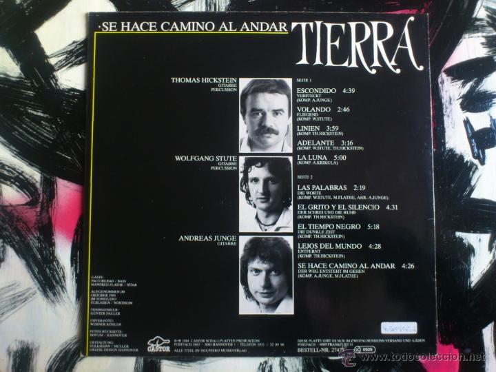 Discos de vinilo: TIERRA - SE HACE CAMINO AL ANDAR - DER WEG ENTSTEHT IM GEHEM - LP VINILO - CASTOR - 1984 - Foto 2 - 52540253