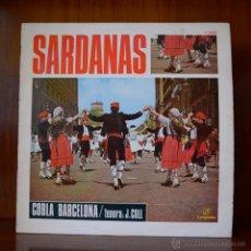 Discos de vinilo: COBLA BARCELONA - SARDANAS (COLUMBIA, 1969). Lote 52540748