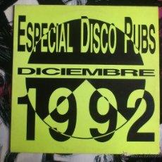 Discos de vinilo: ESPECIAL DISCO PUBS - DICIEMBRE 1992 - LP - VINILO- SONY 1992 - SADE - BILLY JOEL - MICHAEL JACKSON. Lote 52541312