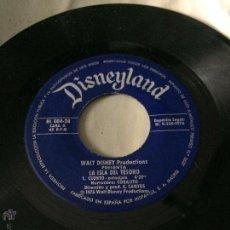 Discos de vinilo: 'LA ISLA DEL TESORO', DE DISNEY. CUENTO Y MÚSICA INFANTIL. AÑO 1976. SIN FUNDA, SÓLO DISCO.. Lote 52543151