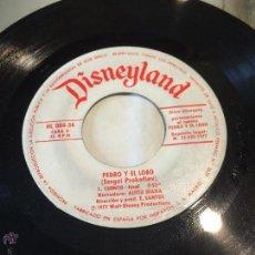 Discos de vinilo: 'PEDRO Y EL LOBO', DE DISNEY. CUENTO INFANTIL. AÑO 1977. SIN FUNDA, SÓLO DISCO.. Lote 52543218