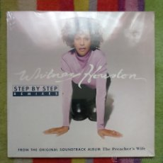 Discos de vinilo: WHITNEY HOUSTON (STEP BY STEP - REMIXES) MAXI-XINGLE 1996 ALBUM THE PREACHER'S WIFE * PRECINTADO. Lote 54225649