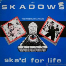 Discos de vinilo: THE SKADOWS - THE INVISIBLE SKA YEARS - SKA'D FOR LIVE - UK 1988. Lote 52556647