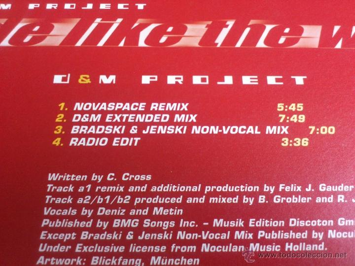 Discos de vinilo: D & M PROJECT - RIDE LIKE THE WIND - MAXI - VINILO - VALE - 2002 - Foto 3 - 52557413