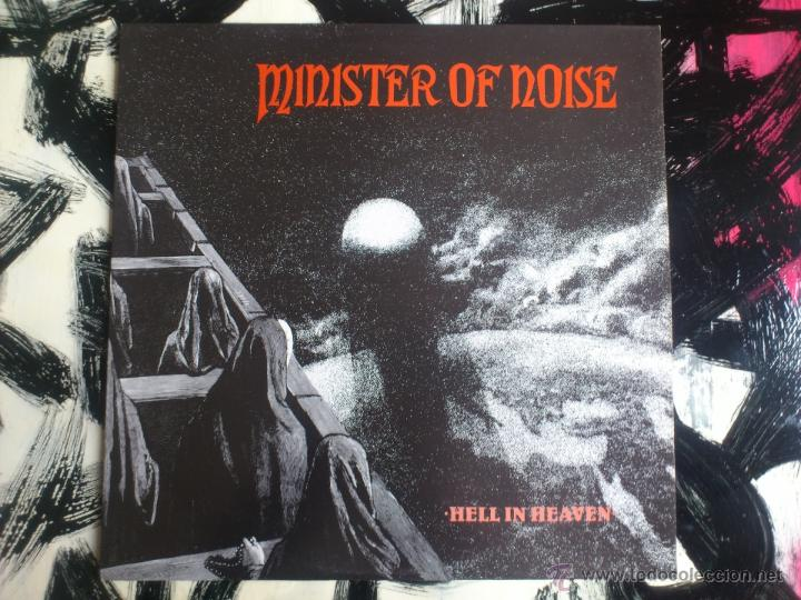 MINISTER OF NOISE - HELL IN HEAVEN - LP - VINILO - PEACEVILLE - 1990 (Música - Discos - LP Vinilo - Techno, Trance y House)