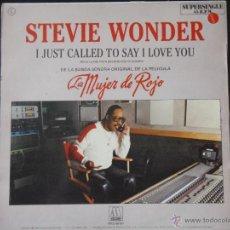 Discos de vinilo: STEVIE WONDER I JUST CALLED TO SAY I LOVE YOU 1984. Lote 52558406