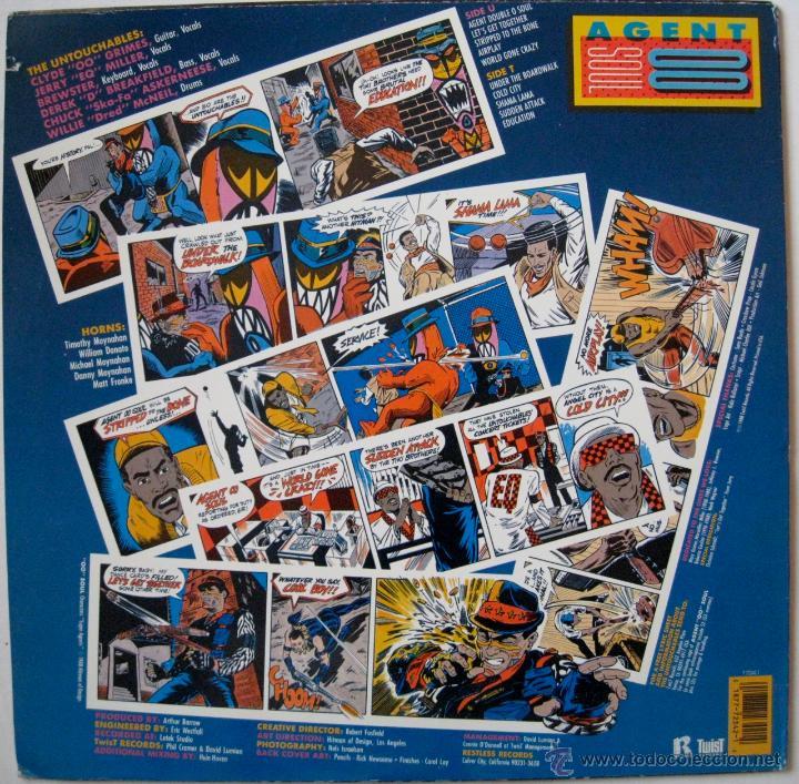 Discos de vinilo: UNTOUCHABLES - AGENT DOUBLE O SOUL - US 1988 - Foto 2 - 52565097