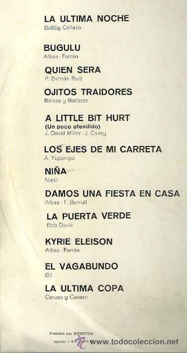 Discos de vinilo: LOS ALBAS LP SELLO VERGARA AÑO 1969 EDITADO EN ESPAÑA - Foto 2 - 52582008
