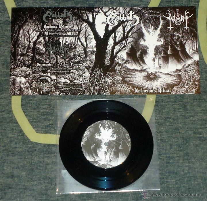 SABBAT / NIADH - NEFARIOUS RITUAL - 7'' [LIM. 300] (Música - Discos de Vinilo - EPs - Heavy - Metal)