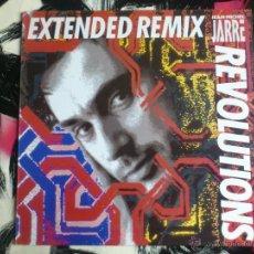 Discos de vinilo: JEAN MICHEL JARRE - REVOLUTIONS - EXTENDED REMIX - MAXI - VINILO - ESPAÑOL - POLYDOR - 1988. Lote 52606554