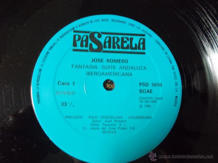 Discos de vinilo: JOSÉ ROMERO. FANTASIA-SUITE ANDALUZA MAXI 12 - Foto 2 - 52612972