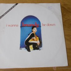 Discos de vinilo: I WANNA BE DOWN MAXI 12. Lote 52613022