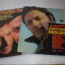 Discos de vinilo: LOTE 2 LP ANTONIO MOLINA, EDITADOS POR DISCOPHON, TITULOS EN FOTOS, BUEN ESTADO. Lote 52613147