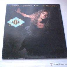 Discos de vinilo: JANETTE - LOCA POR LA MUSICA, LP TWINS 1989, COMO NUEVO. Lote 52613878