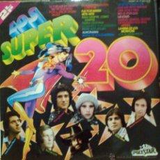 Discos de vinilo: LOS SUPER 20 DOBLE DISCO RECOPILATORIO DE VARIOS ARTISTAS DEL AÑO 1976. MASSIEL. NINO BRAVO, PAJARES. Lote 147264093