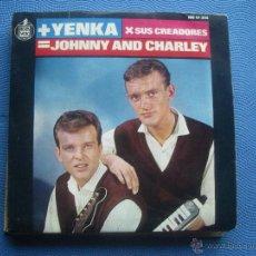 Discos de vinilo: JOHNNY AND CHARLEY - LA CHICAS DE COPENHAGUE / ESTA ES LA YENKA / PIÉNSALO / TU LO SABES - EP PEPETO. Lote 52621137
