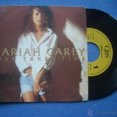 Discos de vinilo: MARIAH CAREY LOVE TAKES TIME SINGLE SPAIN 1990 PDELUXE. Lote 52622564