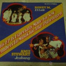 Discos de vinilo: BONEY M. ( EL LUTE ) AMII STEWART ( JEALOUSY ) DSCHINGHIS KHAN ( MOSCOW ) AMANDA LEAR . Lote 52641134