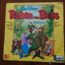 Discos de vinilo: ROBIN DES BOIS HOOD DE LOS BOSQUES WALT DISNEY OST GEORGES DESCRIERES. Lote 52641883