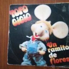 Discos de vinilo: TOPO GIGIO.- UN RAMITO DE FLORES - QUE DOLOR TENGO EN LA BARRIGA. Lote 52641939