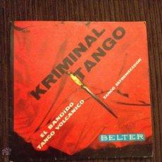 Discos de vinilo: GIANNI Y SU CONJUNTO - KRIMINAL TANGO - EP BELTER 1960. Lote 52659614