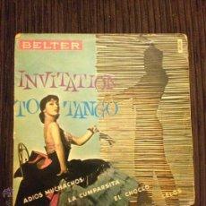 Discos de vinilo: ROLLAND PALETTE Y SU ORQUESTA - INVITATION TO TANGO / EP BELTER - 4 CANCIONES. Lote 52659906