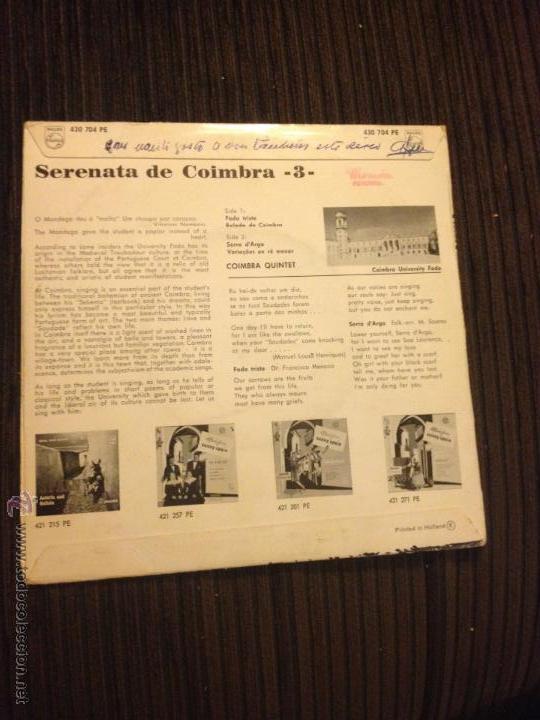 Discos de vinilo: COIMBRA QUINTET - SERENATA DE COIMBRA 3 - Foto 2 - 52661033