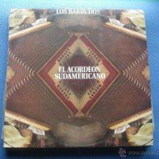 Discos de vinilo: LOS BARBUDOS EL ACORDEON SUDAMERICANO LP ARION 1972 SPAIN NUEVO¡¡¡. Lote 52662655