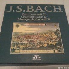Discos de vinilo: J. S. BACH CAJA 7 LP KAMMERMUSIK ARCHIV PRODUKTION. Lote 52666479