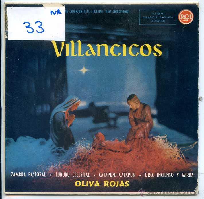 NAVIDAD - OLIVA ROJAS / ZAMBRA PASTORAL + 3 (EP 1959) (Música - Discos de Vinilo - EPs - Otros estilos)