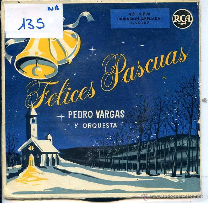 NAVIDAD - PEDRO VARGAS / PUEBLECITO DE BELEN + 3 (EP 1958) (Música - Discos de Vinilo - EPs - Otros estilos)