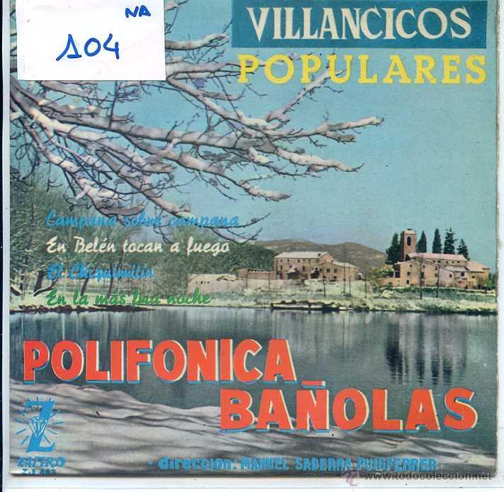 NAVIDAD - POLIFONICA BAÑOLAS / EN BELEN TOCAN A FUEGO + 3 (EP 1963) (Música - Discos de Vinilo - EPs - Otros estilos)