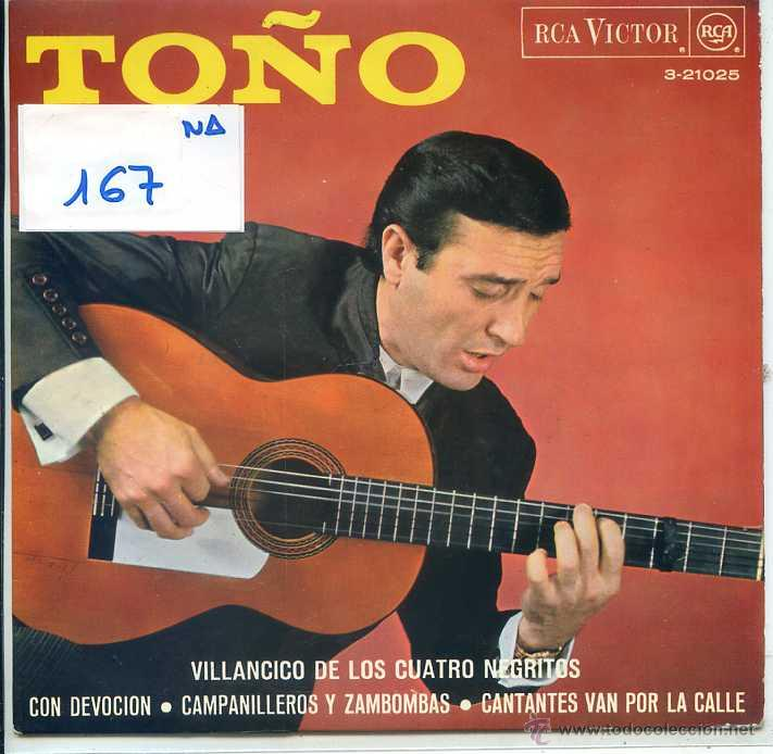 NAVIDAD - TOÑO / VILLANCICO DE LOS CUATRO NEGRITOS + 3 (EP 1967) (Música - Discos de Vinilo - EPs - Otros estilos)