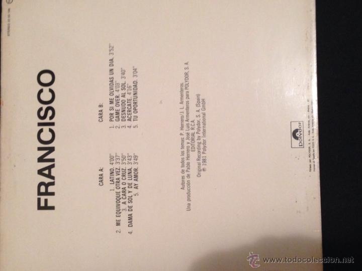 Discos de vinilo: Disco vinilo lp Francisco latino - Foto 2 - 52691540