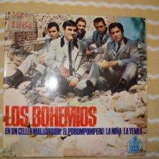 Discos de vinilo: LOS BOHEMIOS EP, EN UN CELLER MALLORQUIN + 3. Lote 52694817