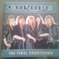 Discos de vinilo: SINGLE - EUROPE - THE FINAL COUNTDOWN - ON BROKEN WINGS - 1986. Lote 52695782
