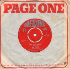 Discos de vinilo: TROGGS, SG, LOVE IS ALL AROUND + 1, AÑO 1967 MADE IN ENGLAND. Lote 52703601