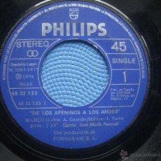 Discos de vinilo: SINGLE SIN CARATULA DE LOS APENINOS A LOS ANDES PHIIPS 1977 VER FOTOS PEPETO. Lote 52706938