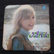 Discos de vinilo: KARINA // COLORES // HISPAVOX HH 11-184. Lote 52710934