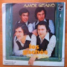 Discos de vinilo: LOS GACHÓS - AMOR GITANO - 1976 - ARREGLOS DE MANOLO GAS - SINGLE PROMOCIONAL. Lote 52713489