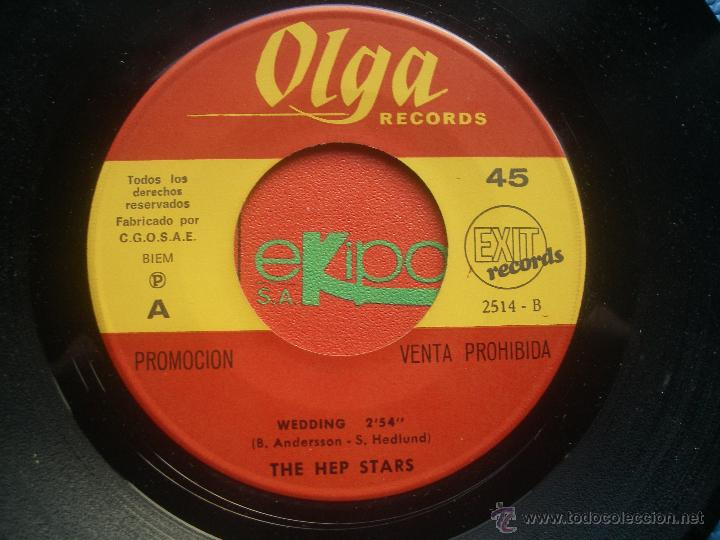 Discos de vinilo: THE HEP STARS WEDDING SINGLE SPAIN 1969 PDELUXE - Foto 2 - 52724379