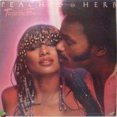 Discos de vinilo: PEACHES & HERB - TWICE THE FIRE. Lote 52727630
