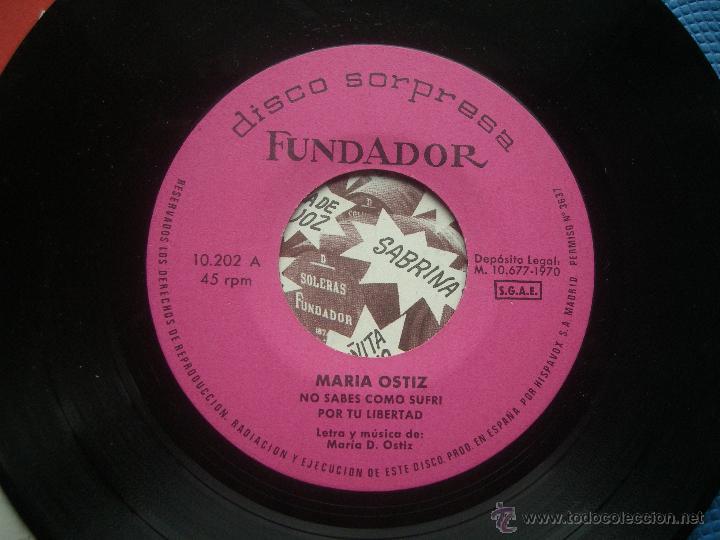 Discos de vinilo: single FUNDADOR CON CARATULA MARIA OSTIZ EP 1970 VER FOTOS - Foto 2 - 52727752